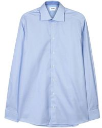 Eton of Sweden - Blue Contemporary Herringbone Cotton Shirt - Size 16.5 - Lyst