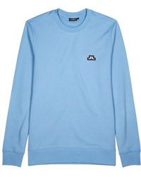 J.Lindeberg - Throw Logo-appliqué Cotton Sweatshirt - Lyst