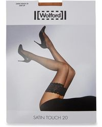 Wolford - Satin Touch Sand 20 Denier Hold-ups - Lyst