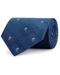Alexander McQueen - Blue Skull-jacquard Silk Tie - Lyst