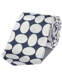 Chester Barrie - Navy Woven Oval Silk Tie - Lyst