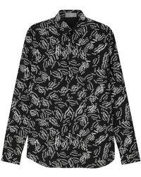 Dior Homme - Black Logo-print Cotton Shirt - Lyst