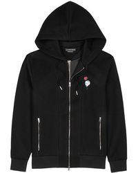 Alexander McQueen - Black Hooded Neoprene Sweatshirt - Lyst