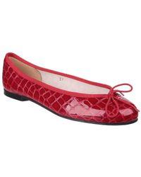 French Sole - Henrietta Red Croc - Lyst