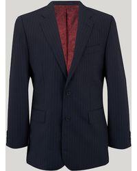 Harvie & Hudson - Navy Fine Stripe Suit - Lyst