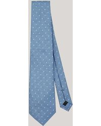 Harvie & Hudson - Sky With White Spot Woven Silk Tie - Lyst