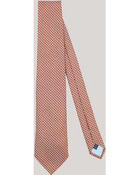 Harvie & Hudson - Orange Houndstooth Woven Silk Tie - Lyst