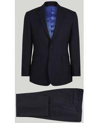 Harvie & Hudson - Navy Fine Worsted Wool Suit - Lyst