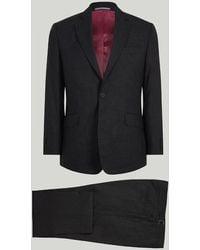 Harvie & Hudson - Grey Houndstooth Wool Suit - Lyst