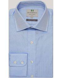 Harvie & Hudson - Blue Royal Oxford Button Cuff Shirt - Lyst
