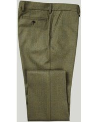 Harvie & Hudson - Green Tweed Blue And Yellow Overcheck Trousers - Lyst