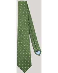 Harvie & Hudson - Olive With White Spot Woven Silk Tie - Lyst