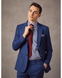 Hawes & Curtis - Indigo Prince Of Wales Plaid Slim Fit Suit Jacket Size 36 Wool Curtis - Lyst