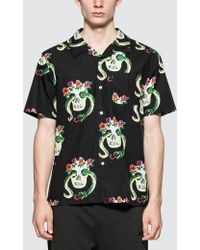 Stussy - Skull Pattern Shirt - Lyst
