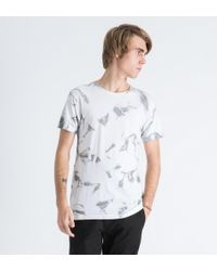 Mister - White Marble Print Mr. Chrome Dye T-shirt - Lyst