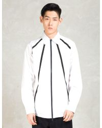 Still Good - White Osmose Over Zip Up Shirt - Lyst