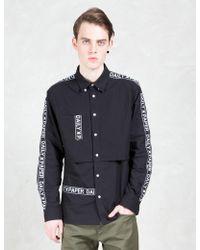 Daily Paper - Black Tape Logo L/s Shirt - Lyst