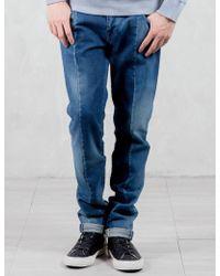 Factotum - Trim Detail Slim Jeans - Lyst