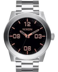 Nixon - Corporal Ss With Rose Gold Dial - Lyst