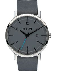 Nixon - Rollo With Blue Second Hand - Lyst