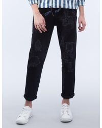 Timberland - Maxie Damaged Patch Trousers - Lyst