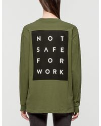 NSFW Clothing - Blocked Ls T-shirt - Lyst