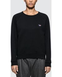 Maison Kitsuné - Tricolor Fox Patch Sweatshirt - Lyst