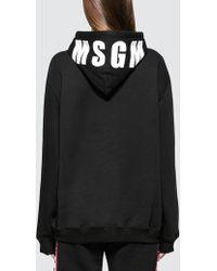MSGM - Iconic Logo Hoodie - Lyst