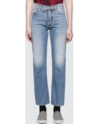Aries - Lilly Selvedge 90s Pale Jeans - Lyst