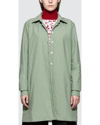 AALTO - Lightly Padded Oversized Shirt With Slits - Lyst