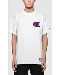 Champion - Big Chest Logo S/s T-shirt - Lyst