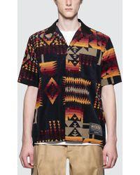 Sacai - Pendleton Print Shirt - Lyst