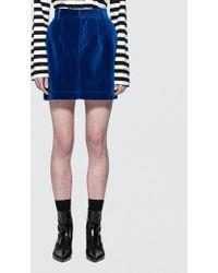 Fiorucci - Viki Velvet Mini Skirt - Lyst