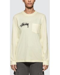 Stussy - Myles Pocket Long Sleeve T-shirt - Lyst