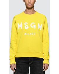 MSGM - Brush Strokes Logo Sweatshirt - Lyst