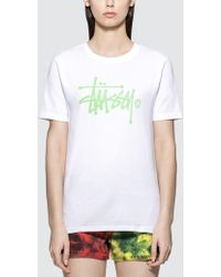 Stussy - Basic Logo Short Sleeve T-shirt - Lyst