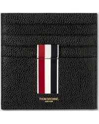 Thom Browne - Double Sided Card Holder W/ Note Compartment & Rwb Gg Intarsia Stripe In Pebble Grain - Lyst