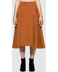 AALTO - Heavy Jersey Flare Skirt - Lyst