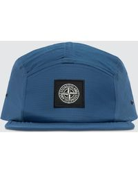 dfdaf1b8f Stone Island Mens Nylon Metal Five Panel Cap Blue in Blue for Men - Lyst