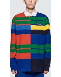 Polo Ralph Lauren - Hi-tech Striped Cotton-piqué Polo Shirt - Lyst