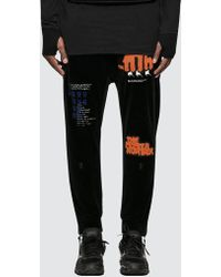 Boris Bidjan Saberi 11 - Commemorative / Logo & Type Pants - Lyst