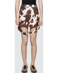 Burberry - Animal Printed Mini Skirt - Lyst