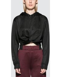 Alexander Wang - Sleek French Terry Twistfront Hoodie - Lyst