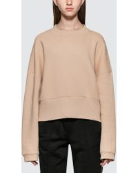 Alexander Wang - Heavy French Terry Wide Neck Sweatshirt - Lyst