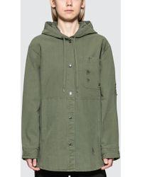 Alexander Wang - Pajama Utility Hooded Oversized Shirt - Lyst