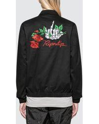"RIPNDIP - ""dead Rose"" Cotton Coach Jacket - Lyst"