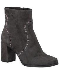 Tamaris | Anthracite Suede Block Heel Ankle Boot | Lyst