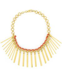 Henri Bendel - Metal Fringe Statement Necklace - Lyst