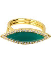 Henri Bendel - Semi Precious Surf Ring - Lyst