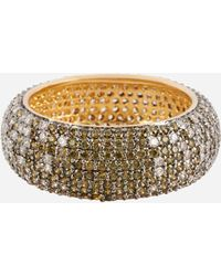 Henri Bendel - Luxe Pave Ribbon Ombre Ring - Lyst
